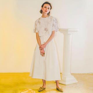 ルシェルブルー(LE CIEL BLEU)のルシェルブルー☆コルセットジーンズスカート(ひざ丈スカート)