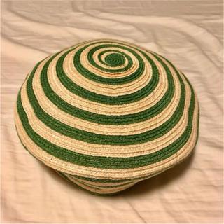 グッチ(Gucci)のGUCCI グッチ / ベレー帽 ストライプ グリーン(ハンチング/ベレー帽)