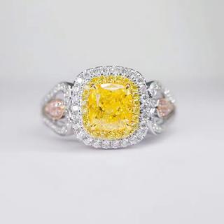 Gia♡ファンシーインテェンスイエロー1ct指輪(リング(指輪))