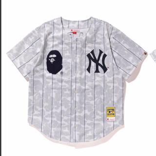 アベイシングエイプ(A BATHING APE)のBAPE NEW YORK YANKEES CAMO JERSEY 2XL(シャツ)