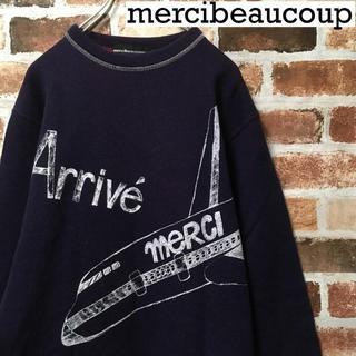 mercibeaucoup - 【レア】メルシーボークー☆プリントロゴ入りスウェット