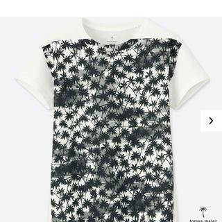 ユニクロ(UNIQLO)のユニクロ  トーマスマイヤー スーピマコットンプリントTシャツ XLホワイト(Tシャツ(半袖/袖なし))