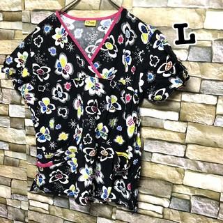141 アメリカ古着 スクラブシャツ ドクターシャツ ホスピタルシャツ(シャツ/ブラウス(半袖/袖なし))