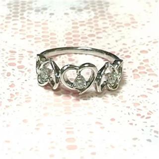 【最終値下げ】K18WG ダイヤモンド リング ハート(リング(指輪))