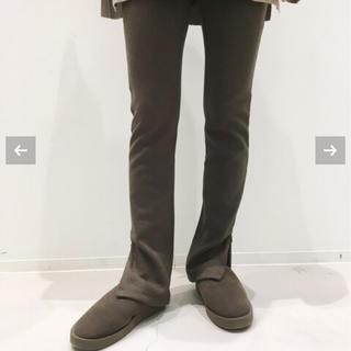 アパルトモンドゥーズィエムクラス(L'Appartement DEUXIEME CLASSE)の新品未使用 Wool Zip Leggings ブラウン(レギンス/スパッツ)