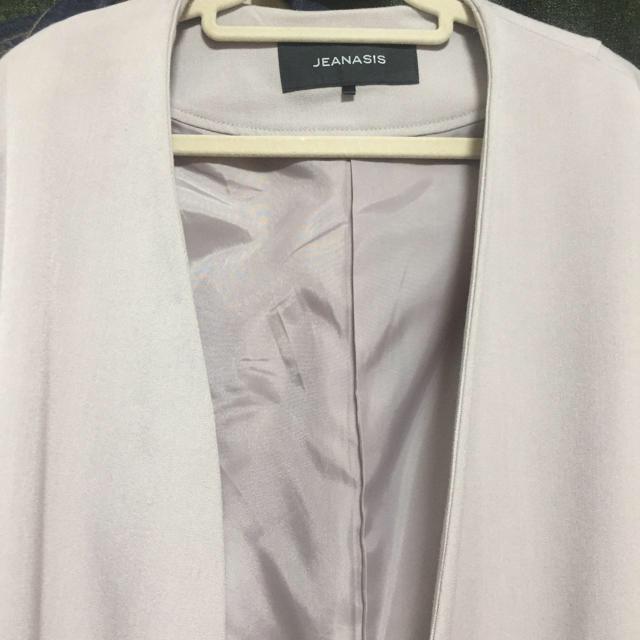 JEANASIS(ジーナシス)の売り切り値下げ!ジーナシス ノーカラーコクーンジャケット ライトグレー レディースのジャケット/アウター(ノーカラージャケット)の商品写真