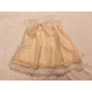 リズリサ(LIZ LISA)のAWオーガンジースカート(ひざ丈スカート)