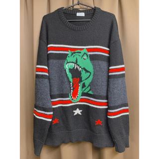 サンローラン(Saint Laurent)の正規品 17SS サンローランパリ ダイナソー 恐竜 ニット セーター Mサイズ(ニット/セーター)