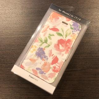 フランフラン(Francfranc)のラスト1個【新品・未使用】フランフラン iPhoneケース 手帳型 フラワー 花(iPhoneケース)