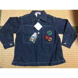 ミキハウス(mikihouse)のミキハウス 100 新品未使用 デニム風シャツ 旧タグ(ジャケット/上着)