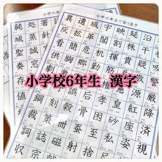 小学校6年生で習う 漢字 181字 国語 知育教材 勉強(知育玩具)