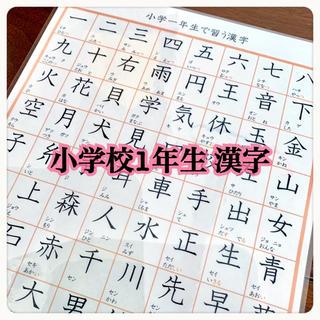 小学校1年生で習う 漢字 80字 国語 知育教材 勉強(知育玩具)