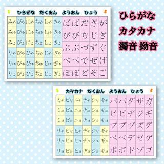 ひらがな カタカナ 濁音 拗音 国語 知育教材 幼児教育 (知育玩具)