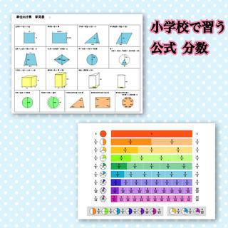 小学校で習う 公式 算数 分数 知育教材 勉強(知育玩具)