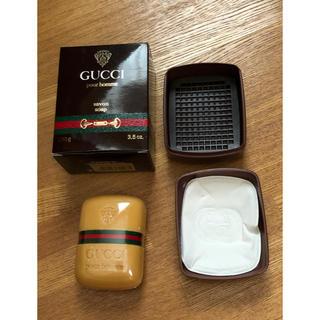 グッチ(Gucci)のGUCCI グッチ メンズソープ 石鹸ケース付き(ボディソープ / 石鹸)