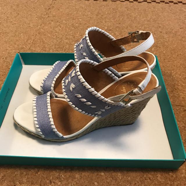 JackRogers サンダル ブルー×ホワイト 7.5M レディースの靴/シューズ(サンダル)の商品写真