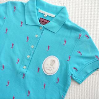 マークアンドロナ(MARK&LONA)のマークアンドロナ  ポロシャツ S レディース ブルー(ウエア)