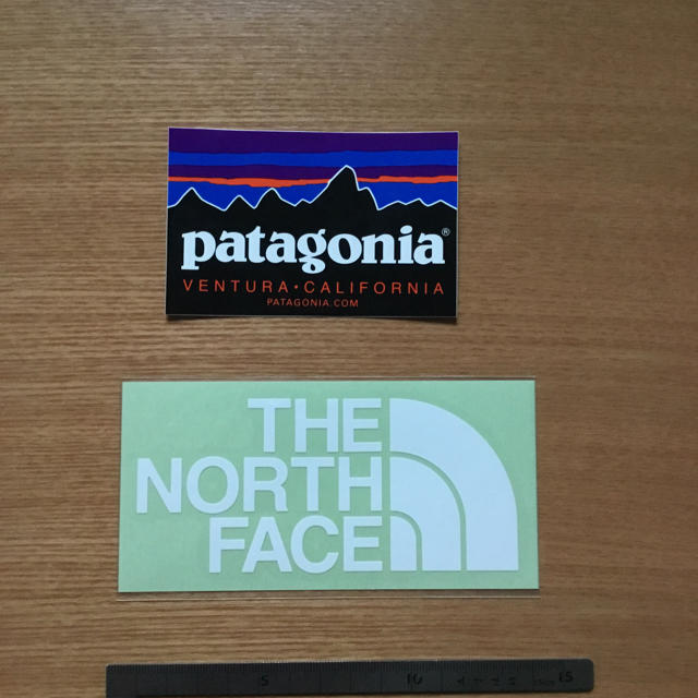 patagonia(パタゴニア)のパタゴニア ノースフェイス ステッカー 自動車/バイクのバイク(ステッカー)の商品写真