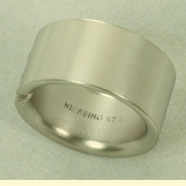 Georg Jensen(ジョージジェンセン)のニーシング アバックス 17号 つや消し 美品 本物 レディースのアクセサリー(リング(指輪))の商品写真