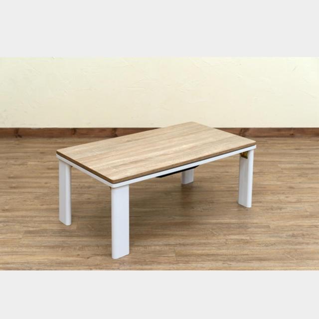 折れ脚アンティークコタツ 90×50cm インテリア/住まい/日用品の机/テーブル(こたつ)の商品写真