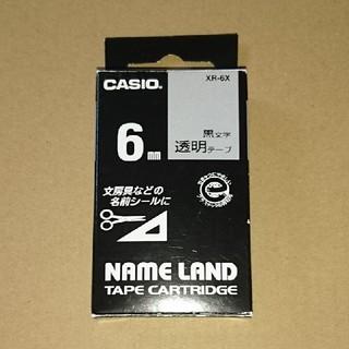 カシオ(CASIO)の【連休お値下げ】カシオ☆ネームランド☆テープ☆6㎜  透明(テープ/マスキングテープ)