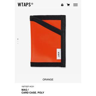 ダブルタップス(W)taps)のCARD CASE オレンジ WTAPS 19AW(名刺入れ/定期入れ)