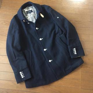 バーバリーブラックレーベル(BURBERRY BLACK LABEL)のバーバリーブラックレーベル☆銀ボタン厚手コート(ステンカラーコート)