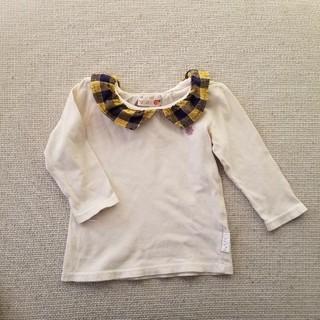 フタフタ(futafuta)の長袖 カットソー 90 フタフタ フリル襟(ワンピース)