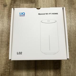 エーユー(au)のspeed Wi-FiHOME l02(その他)