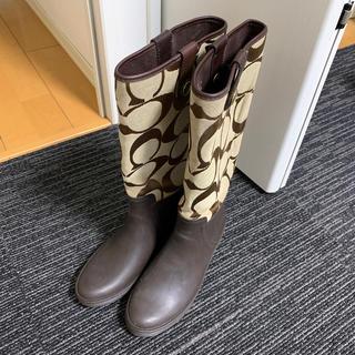 コーチ(COACH)のコーチレインブーツ美品(レインブーツ/長靴)
