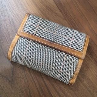 ツモリチサト(TSUMORI CHISATO)のツモリチサト 二つ折り財布 グレンチェック(財布)