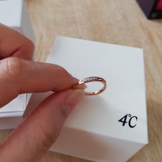 ヨンドシー(4℃)の4℃ K10ピンクゴールドダイヤリング 5号(リング(指輪))