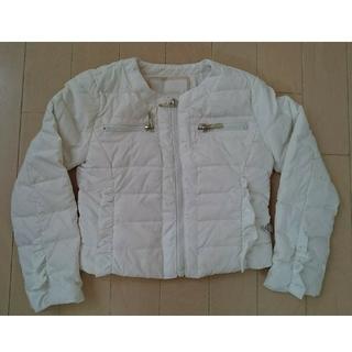 モンクレール(MONCLER)のHEACH DOLLSフリル ダウン90% ホワイト白(ジャケット/上着)