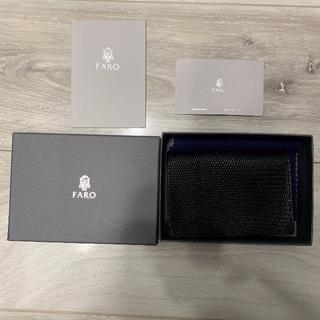 ホワイトハウスコックス(WHITEHOUSE COX)の美品  FARO 名刺入れ カードケース パスケース カード入れ 定期入れ(名刺入れ/定期入れ)