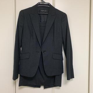 インディヴィ(INDIVI)のインディヴィ★濃グレースーツ ジャケット38スカート40(スーツ)