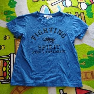 サンカンシオン(3can4on)の3can4on☆クワガタTシャツ ブルー 110cm(Tシャツ/カットソー)