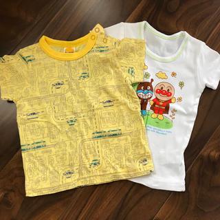 ムージョンジョン(mou jon jon)の値下げ★ブランド半袖★80★下着セット(Tシャツ)