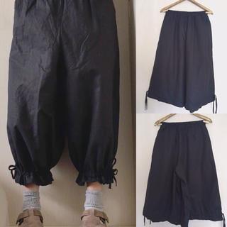 【新品】2way ガウチョバルーンパンツ黒