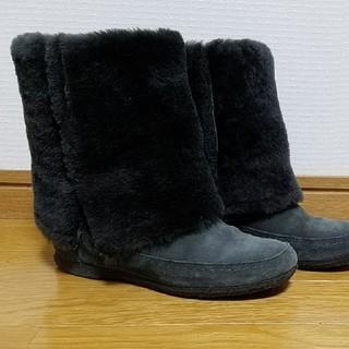 ギンザカネマツ(GINZA Kanematsu)のリアルファー ブーツ 銀座かねまつ 22.5(ブーツ)