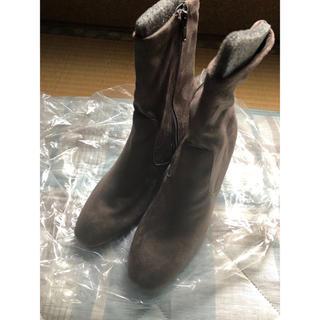 ジーユー(GU)のGU スウェードショートブーツ 茶色(ブーツ)