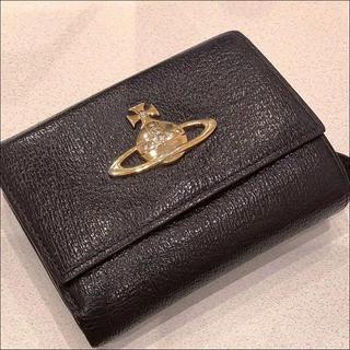 ヴィヴィアンウエストウッド(Vivienne Westwood)の【美品】ヴィヴィアンウエストウッド 三つ折り財布 3つ折り財布 ダークブラウン(財布)