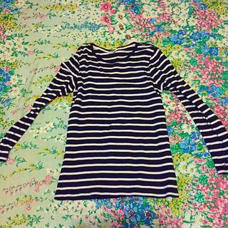 ジーユー(GU)のボーダーカットソー(Tシャツ(長袖/七分))