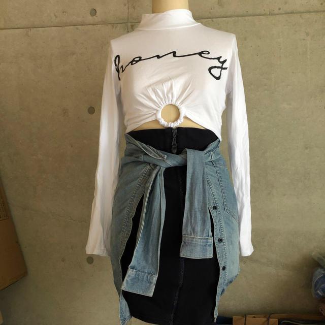 OPENING CEREMONY(オープニングセレモニー)のRIHANNA ジップ スウェット スカート レディースのスカート(ひざ丈スカート)の商品写真