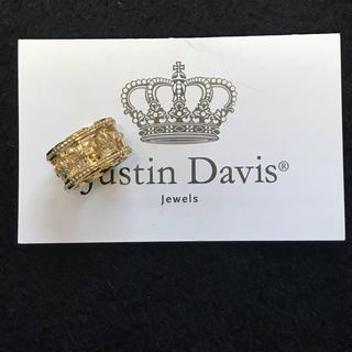 ジャスティンデイビス(Justin Davis)の限定◆新品◆JUSTIN DAVIS◆クラウンクロスリング◆8号◆ゴールド(リング(指輪))