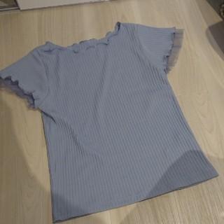 ヴィス(ViS)のvis 大人気テレコTシャツ ブルー(Tシャツ(半袖/袖なし))
