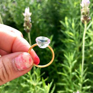 新品〈残り一点〉 ピンクアメシスト サークルリング インドジュエリー(リング(指輪))