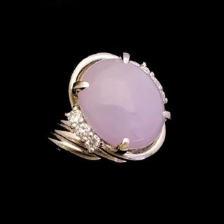 シンプルだから美しい♥️ 宝石指輪 ラベンダー翡翠6.25ct Pt900(リング(指輪))
