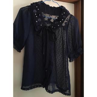 リズリサ(LIZ LISA)のブラウス リボン(シャツ/ブラウス(半袖/袖なし))