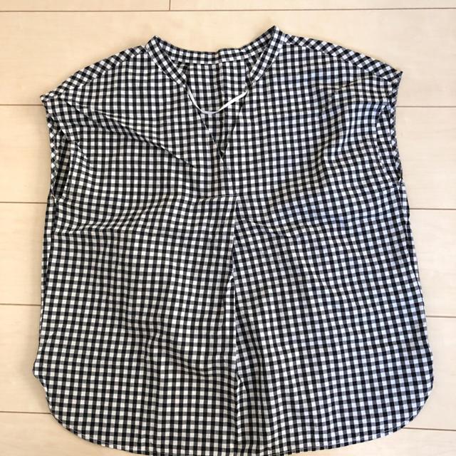 GU(ジーユー)のギンガムチェックスキッパーブラウス♥ レディースのトップス(シャツ/ブラウス(半袖/袖なし))の商品写真