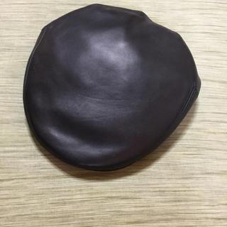 アニエスベー(agnes b.)のアニエスベー ハンチング 革 美品 正規品(ハンチング/ベレー帽)